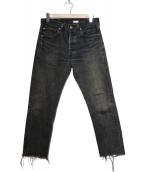OLD PARK(オールドパーク)の古着「カットオフデニムパンツ」|ブラック
