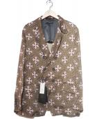 GIORGIO ARMANI(ジョルジオアルマーニ)の古着「総柄ダブルジャケット」|ブラウン