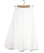 UNITED ARROWS TOKYO(ユナイティッドアローズトウキョウ)の古着「ミディフレアスカート」|ホワイト