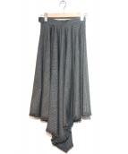 LE CIEL BLEU(ルシェルブルー)の古着「イレギュラーヘムスカート」|グレー