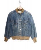 77circa(ナナナナサーカ)の古着「リメイクリブデニムジャケット」|インディゴ