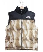 SUPREME×THE NORTH FACE(シュプリーム×ザ・ノースフェイス)の古着「Fur Print Nuptse Vest」 ブラウン