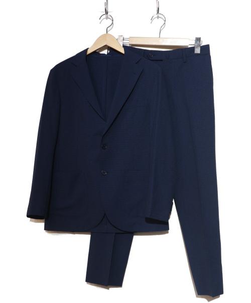 MACKINTOSH PHILOSOPHY(マッキントッシュフィロソフィー)MACKINTOSH PHILOSOPHY (マッキントッシュフィロソフィー) シアサッカーセットアップ ネイビー サイズ:36R/38の古着・服飾アイテム