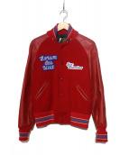 SKOOKUM(スクーカム)の古着「スタジャン / アワードジャケット」|レッド