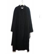 GIORGIO ARMANI(ジョルジオアルマーニ)の古着「比翼ロングコート」|ブラック