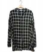 THEE(シー)の古着「double button china shirts」|ブラック