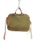 IL BISONTE(イルビゾンテ)の古着「セパレートハンドバッグ」|オリーブ