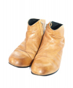 PADRONE(パドローネ)の古着「サイドジップドレープブーツ」|ブラウン