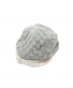 CHANEL()の古着「ココマークカシミヤニット帽」 グレー