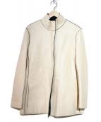 ARMANI COLLEZIONI(アルマーニコレツォーニ)の古着「フェイクレザージャケット」|ホワイト