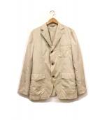 DURBAN(ダーバン)の古着「段返り3Bテーラードジャケット」|ベージュ