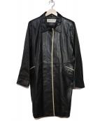 BALMAIN(バルマン)の古着「ラムレザーコート」|ブラック
