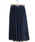 allureville(アルアバイル)の古着「ロングスカート」|ネイビー
