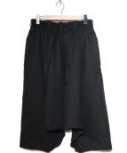 GROUND Y(グラウンドワイ)の古着「ギャバジンバルーンパンツ」|ブラック
