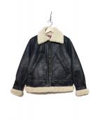 ALPHA(アルファ)の古着「フェイクムートンB-3ジャケット」 ブラック