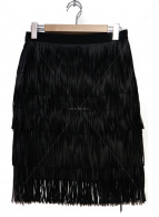 Day Birger et Mikkelsen(デイビルガーエットミッケルセン)の古着「フリンジスカート」|ブラック