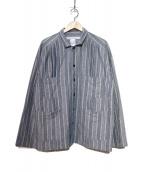 EEL(イール)の古着「4ポケットタックシャツ」 ブルー