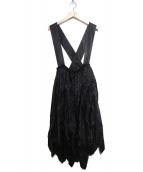 BLACK COMME des GARCONS(ブラックコムデギャルソン)の古着「キュプラタック吊りスカート」|ブラック