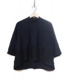 tricot COMME des GARCONS(トリコ コムデギャルソン)の古着「ウール刺繍ブラウス」|ネイビー