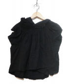 tricot COMME des GARCONS(トリコ コムデギャルソン)の古着「変形レースブラウス」|ブラック
