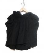 tricot COMME des GARCONS()の古着「変形レースブラウス」|ブラック