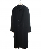 YOHJI YAMAMOTO()の古着「ウールギャバビーバーフードコート」|ブラック