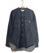 LEVIS MADE&CRAFTED(リーバイス メイドアンドクラフテッド)の古着「バンドカラーシャツ」|インディゴ