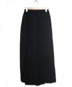 Jean Paul Gaultier FEMME(ジャンポールゴルチェ フェム)の古着「[OLD]スカートデザインワイドパンツ」|ブラック