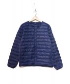 mont-bell(モンベル)の古着「ライトダウンジャケット」|ネイビー