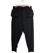 syte(サイト)の古着「リブポケットパンツ」 ブラック