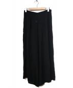 YOHJI YAMAMOTO(ヤマモトヨウジ)の古着「シースルーワイドパンツ」|ブラック