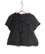 tricot COMME des GARCONS()の古着「リボンデザインワイドブラウス」|ブラック