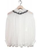 tricot COMME des GARCONS(トリコ コムデギャルソン)の古着「ボリュームスリーブブラウス」 ホワイト