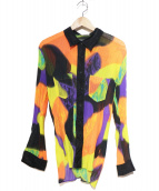 ISSEY MIYAKE(イッセイミヤケ)の古着「総柄プリーツシャツ」 マルチカラー