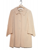 KRISTINA TI(クリスティーナティ)の古着「フレアスリーブコート」|ピンク