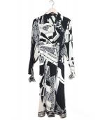LEONARD(レオナール)の古着「シルクトレンチコート」|ホワイト