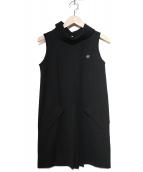 FRED PERRY(フレッドペリ)の古着「タートルノースリーブワンピース」|ブラック