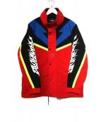 DIESEL(ディーゼル)の古着「カラーブロックスポーツジャケット」|レッド