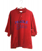 SHAREEF(シャリーフ)の古着「FRAGILE BIG POLO」 レッド