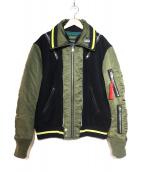 DIESEL(ディーゼル)の古着「切替MA-1ジャケット」|カーキ