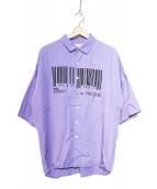 SHAREEF(シャリーフ)の古着「バーコードS/Sシャツ」 パープル