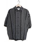 SHAREEF(シャリーフ)の古着「ROGO S/S SHIRTS」 ブラック