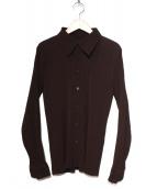 ISSEY MIYAKE(イッセイミヤケ)の古着「プリーツシャツ」 ブラウン