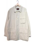 BRIONI(ブリオーニ)の古着「リネンショートコート」|オフホワイト