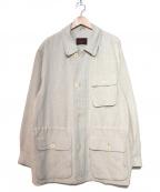 BRIONI(ブリオーニ)の古着「リネンショートコート」 オフホワイト