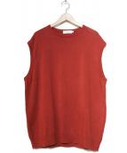 Graphpaper(グラフペーパー)の古着「Suvin Vest」|レッド