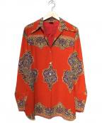 Jean Paul Gaultier FEMME(ジャンポールゴルチェ フェム)の古着「[OLD]切替カフスシャツ」|レッド