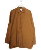 YAECA(ヤエカ)の古着「ボタンシャツPO」|ブラウン