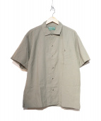 BROWN by 2-tacs(ブラウン バイ ツータックス)の古着「半袖シャツ」|カーキ