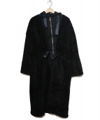 ()の古着「ミリタリーレイヤードコート」 ブラック
